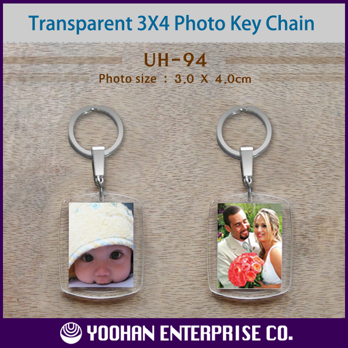 3X4cm Blank Acrylic Photo Frame Key Chain