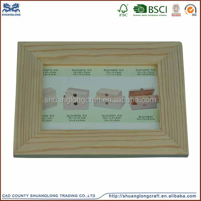 FSC&CARB certificate unfinished wooden photo picture frame /unfinished wood frames wholesale