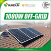 CE TUV certified 1000W Solar Panel kit for small house lighting with 25 years warranty