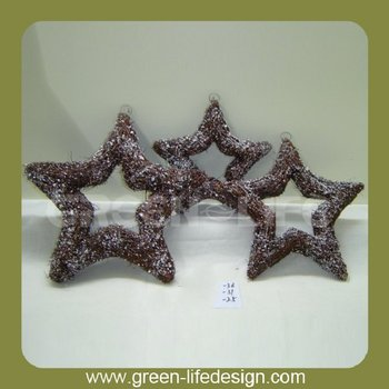 Christmas star decoration weave rattan star