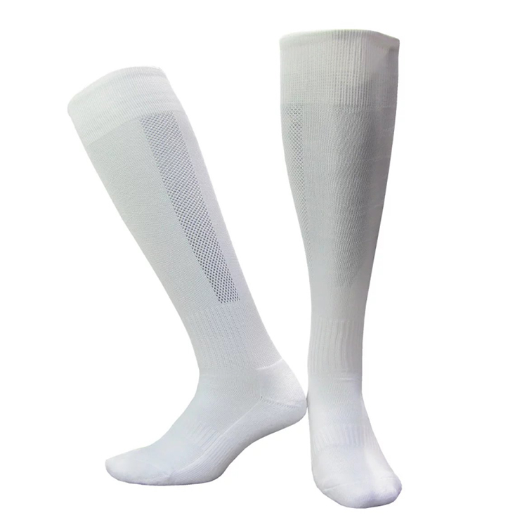Wholesale Cheap Anti Slip White Soccer Socks