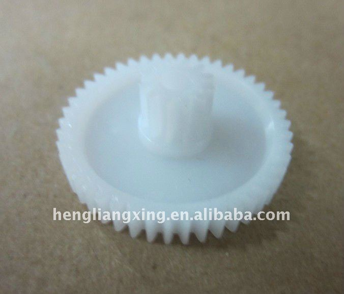 Delrin plastic hypoid gear with custom manufacture
