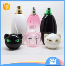 75ml high quanity girl used cat perfume bottle with necklace