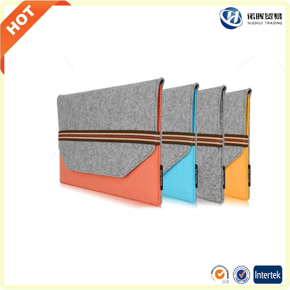 Cheap price 10/ 12/ 13/ 14/ 15/ 17 inch felt laptop briefcase in china
