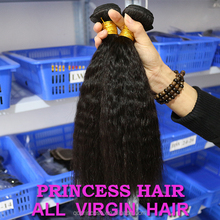 Wholesale Top Quality Indian Kinky Straight Natural Human Hair Extensions Double Weft for Black African American Woman