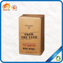 High quality custom printed recycled fancy kraft paper wine box