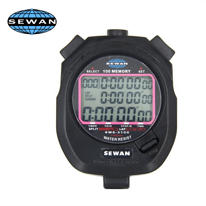 SEWAN Water Resist environmental ABS material digital quartz stopwatch sw8-3100