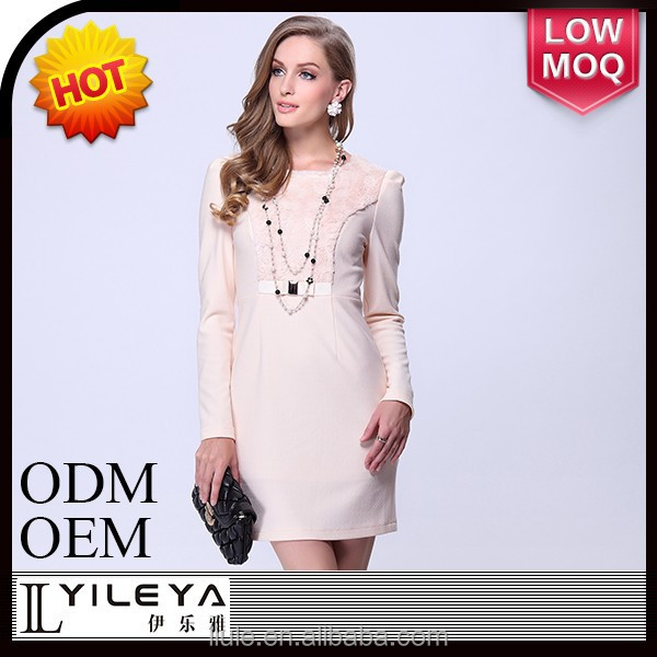 2014 fashion knit dress, woman ivory white new model frocks dresses