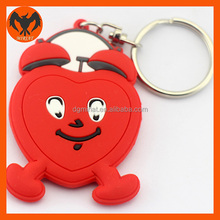 3D Keychain Clock Shaped Keyring With PVC Decoration