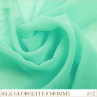 Silk Georgette Fabric 8momme 114cm Width 100 Silk Ivory White Chiffon fabric christmas decorations lakegreen