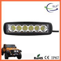 Factory Direct Wholesale 6 Inch 18W Waterproof LED Strip Work Light For E-Scooter ATV JEEP SUV