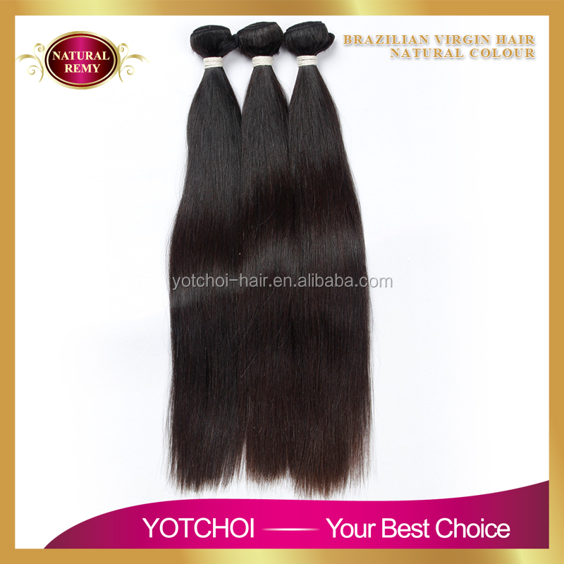 2016 Wholesale Straight Hair, 100% Remy Virgin Human Hair Extension, Brazilian Human Hair Extension