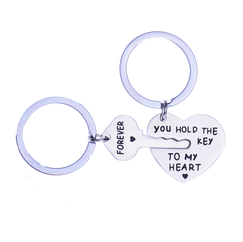 Stainless Steel You Hold The <strong>Key</strong> To My Heart Couple Keychain Lovers Gift