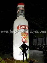 Advertising Giant Inflatable Bottle For Promotion / inflatable light bottle P4010