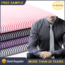 New style clothing textile stripe fabric hot sale custom polyester cotton fabric for shirt