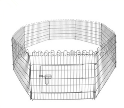 Foldable outdoor dog fence