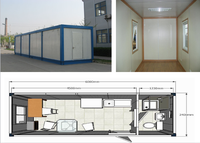 Economy safe and durable prebuilt container home for sale
