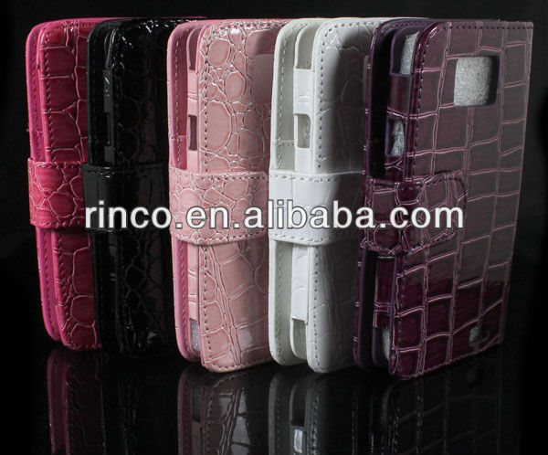 Wallet Flip Pouch StoneStrip Leather Case Cover For Samsung Galaxy S II S2 i9100