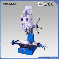 New model drilling and milling machine ZX40, ZX45, ZX45L 2 axis digital readout bindi