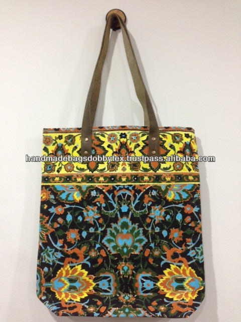 Best selling Thailand Neon Canvas Handmade bag NB18