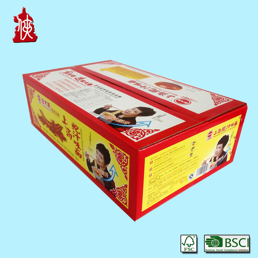color corrugated packaging carton box for food