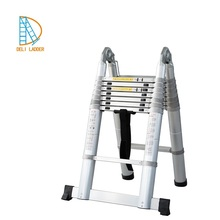 3.8m double telescopic extension free standing ladder