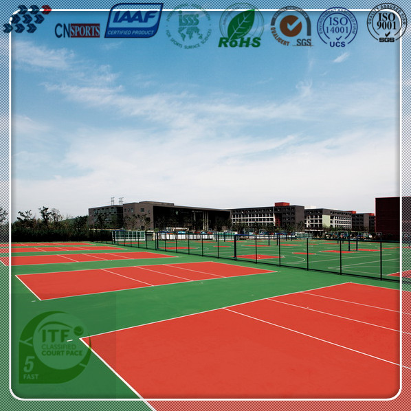 China excellent factory supply high quality durable tennis court flooring
