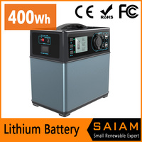 li-ion lithium battery 400Wh portable solar power generator