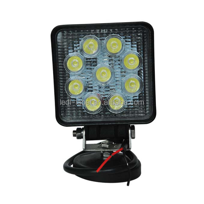 Auto led lamp 27w square working light flood beam led work lights