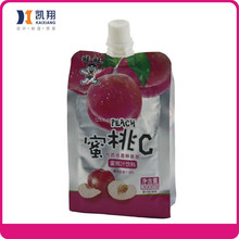 Apple juice beverage pack juice drinks disposable pouch bags with spout