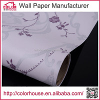 waterproof decorative pvc embossed wallpaper for bathrooms