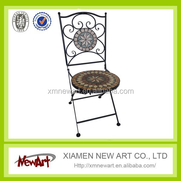 Italian furniture mesh metal outdoor furniture industrial metal mosaic chair