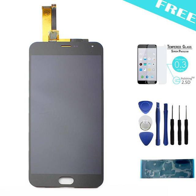 Black Meizu M2 Note LCD Dispaly +Touch Screen Replacement For meilan note 2+Tools+Tempered Glass+Adhesive
