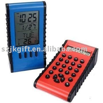 2 in 1 multifunctional calendar clock with calculator