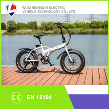 20 inch 500W48V folding fat tire electric bikes lithium battery bike