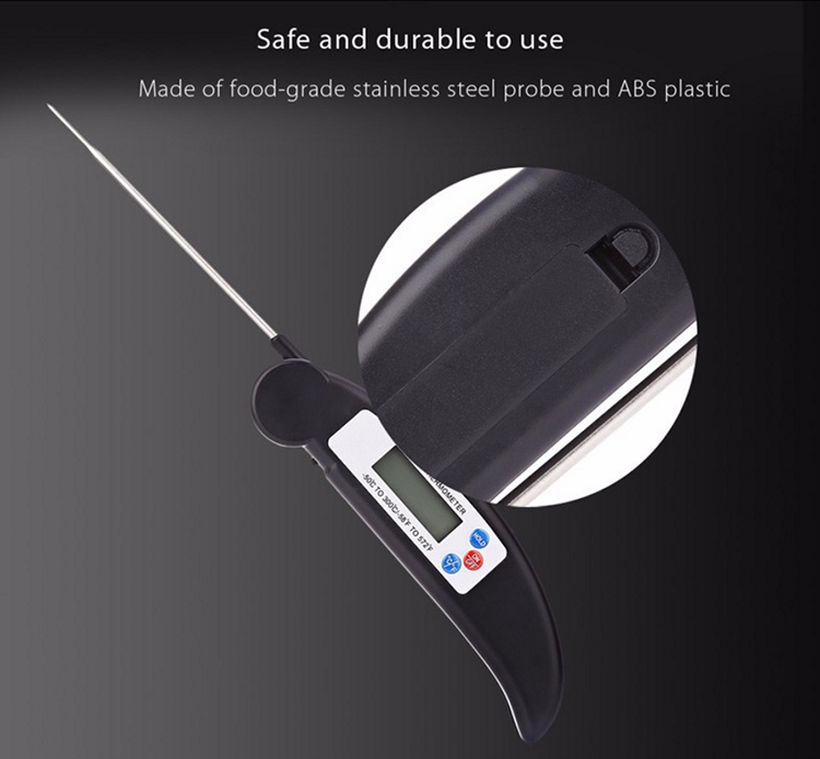The cheapest Probe Folding BBQ Meat Thermometer LCD Digital Kitchen Instant Reading Barbecue Thermometer