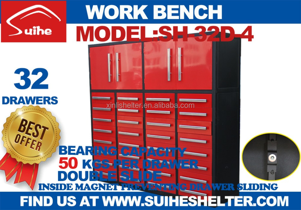New products Suihe cabinet 32 drawers metal tool box