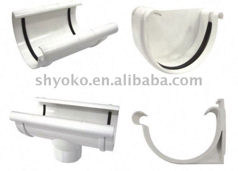pvc rain gutter fittings