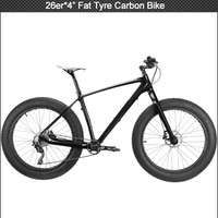 "2016 New model fat bike/carbon fiber fat tires bike with 4"" tyre/ 26*17"" Aluminium fat bike"