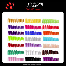 Artificial colorful fake long nail tips/ false christmas nail tips supplier