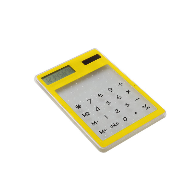electronic transparent touch screen calculator kids love calculator