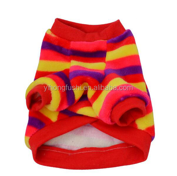 Colorful Stripe Factory Price Spring Pet Dog Clothes Apparel Clothing