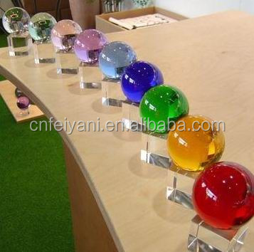 christmas crystal ball , glass ball with clear stand