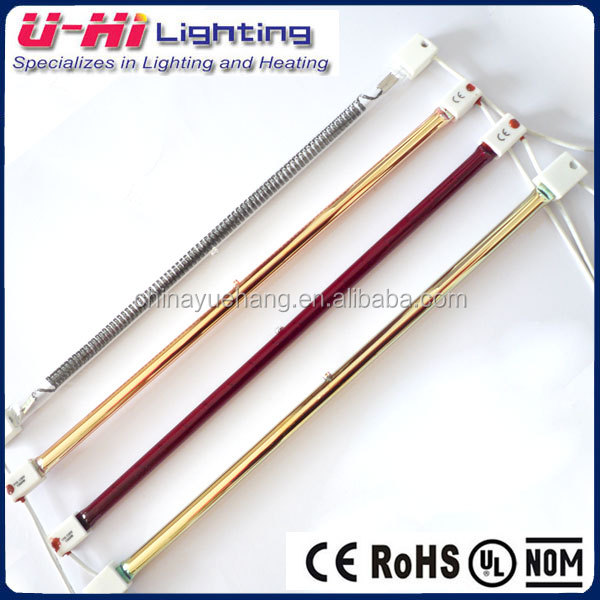 Longlife Tube Gold Outdoor Halogen Heating Tube Restaurant Heat Lamp