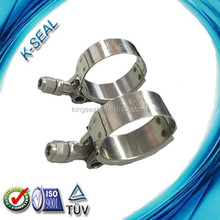 stainless steel T bolt quick locking and release hose clamps