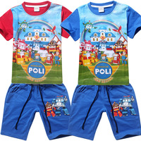Clothing Set For Boys Robocar Poli Mainan Picture Of Pant And Shirt