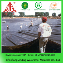 Black plastic pond liner waterproof hdpe geomembrane 1.0mm