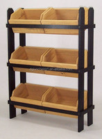 wooden crate display with 6 crates