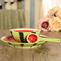 Japanese cute and creative fruit ceramic spoon/bowl/disk set,fruit ceramic dinner set