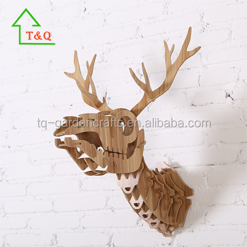 New Deerskeleton Vintage Wooden Craft MDF Wall Hanging country 3D puzzle Home Decor
